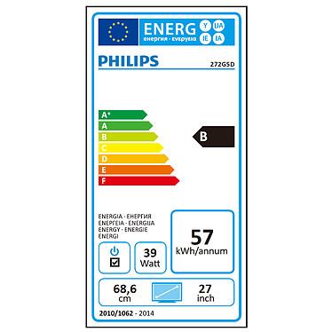 """Avis Philips 27"""" LED - 272G5DYEB"""