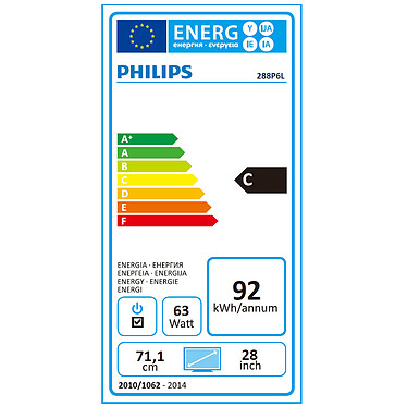 "Acheter Philips 28"" LED - 288P6LJEB"
