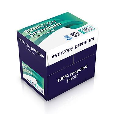 Clairefontaine Evercopy Premium A4 ramette 500 feuilles 80g Blanc X5 Carton de 5 ramettes de papier recyclé 500 feuilles A4 80g Blanc