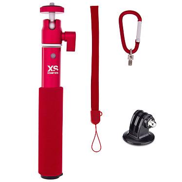 XSories U-Shot Rouge Perche extensible pour appareil photo et caméra embarquée GoPro (adapteur GoPro inclus)