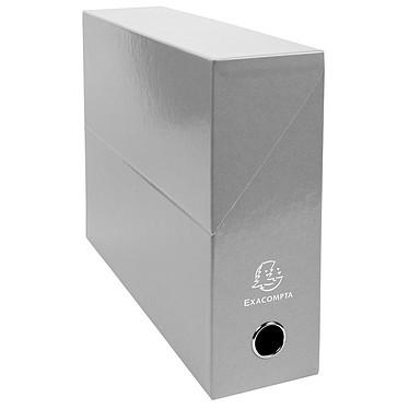 Exacompta Iderama Boite de transfert pelliculée dos 90 mm Gris Boîte de transfert 33 x 25 cm avec dos 9 cm pour documents A4
