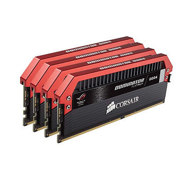 Corsair Dominator Platinum ROG 32 Go (4x 8 Go) DDR4 3200 MHz CL16 Quad Channel Kit 4 tiras de RAM DDR4 PC4-25600 - CMD32GX4M4M4C3200C16-ROG (garantía de por vida de Corsair)