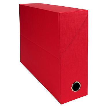 Exacompta Boite de transfert en papier toilé dos 90 mm Rouge