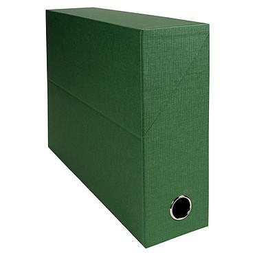 Exacompta Boite de transfert en papier toilé dos 90 mm Vert Boîte de transfert 34 x 25.5 cm avec dos 9 cm pour documents A4/24 x 32 cm