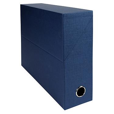 Exacompta Boite de transfert en papier toilé dos 90 mm Bleu foncé
