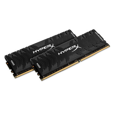 HyperX Predator Noir 8 Go (2x 4 Go) DDR4 3200 MHz CL16 Kit Dual Channel 2 barrettes de RAM DDR4 PC4-25600 - HX432C16PB3K2/8 (garantie 10 ans par Kingston)