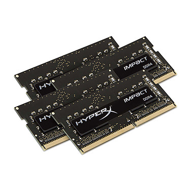 HyperX Impact SO-DIMM 32 Go (4 x 8 Go) DDR4 2400 MHz CL15 Quad Channel RAM SO-DIMM DDR4 PC4-19200 - HX424S15IB2K4/32