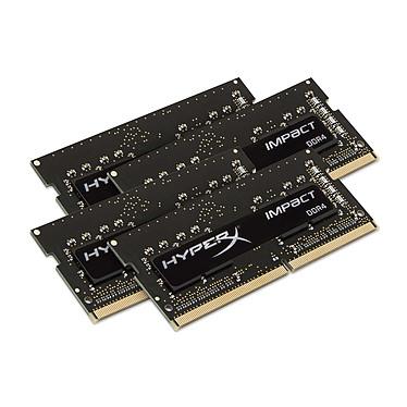 HyperX Impact SO-DIMM 32 Go (4 x 8 Go) DDR4 2133 MHz CL14 Quad Channel RAM SO-DIMM DDR4 PC4-17000 - HX421S14IB2K4/32