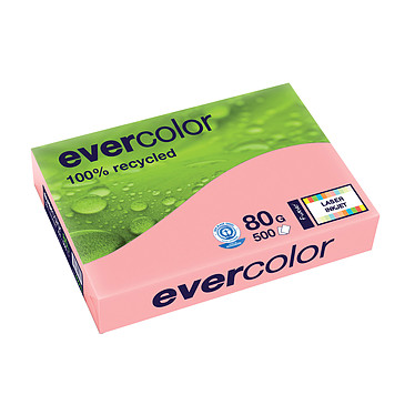 Clairefontaine Evercolor Ramette de papier 500 feuilles A4 80g Rose Ramette de papier couleur recyclé 500 feuilles A4 80g Rose 40003C