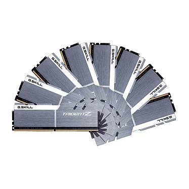 G.Skill Trident Z 64 Go (8x 8 Go) DDR4 3300 MHz CL16 Quad Channel Kit 8 tiras de RAM DDR4 PC4-26400 - F4-3300C16Q2-64GTZSW Blanco y plata (10 años de garantía de G. Skill)