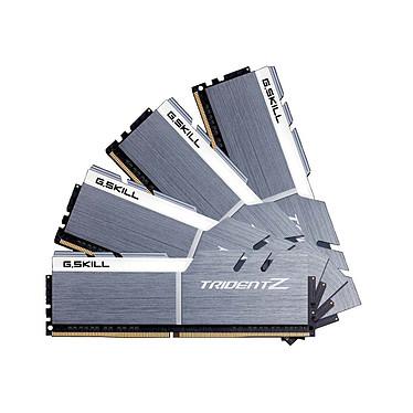 G.Skill Trident Z 64 Go (4x 16 Go) DDR4 3200 MHz CL15 Kit Quad Channel 4 barrettes de RAM DDR4 PC4-25600 - F4-3200C15Q-64GTZSW Blanc et argent