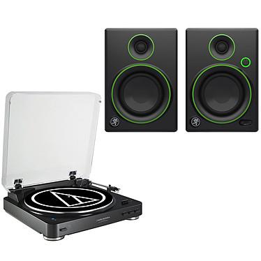 Audio-Technica AT-LP60BT Noir + Mackie CR4