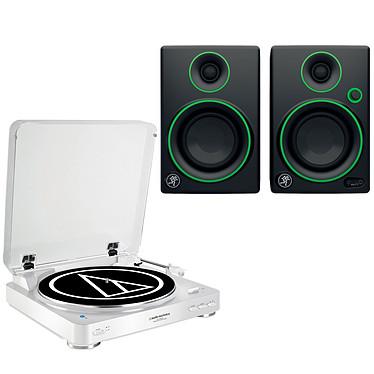 Audio-Technica AT-LP60BT Blanc + Mackie CR3