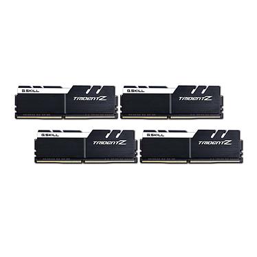 G.Skill Trident Z 32 Go (4x 8 Go) DDR4 4000 MHz CL18 Kit Quad Channel 4 barrettes de RAM DDR4 PC4-32000 - F4-4000C18Q-32GTZKW Blanc et noir (garantie 10 ans par G.Skill)