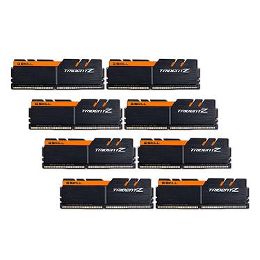 G.Skill Trident Z 64 Go (8x 8 Go) DDR4 3200 MHz CL16  Kit Quad Channel 8 barrettes de RAM DDR4 PC4-25600 - F4-3200C16Q2-64GTZKO - Noir et orange (garantie 10 ans par G.Skill)