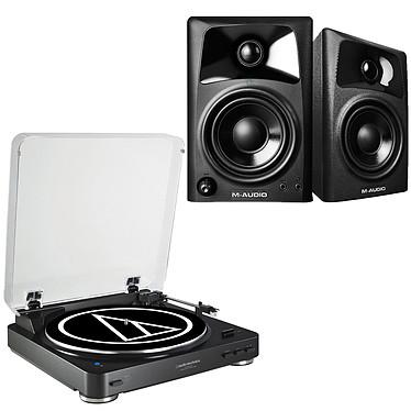 Audio-Technica AT-LP60BT Noir + M-Audio AV 42