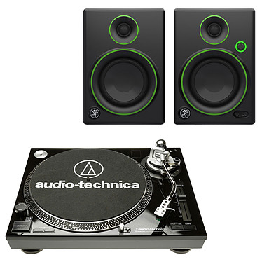 Audio-Technica AT-LP120USBC Noir + Mackie CR4