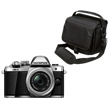 Olympus E-M10 MK II Argent + 14-42mm pancake + OM-D Taille M