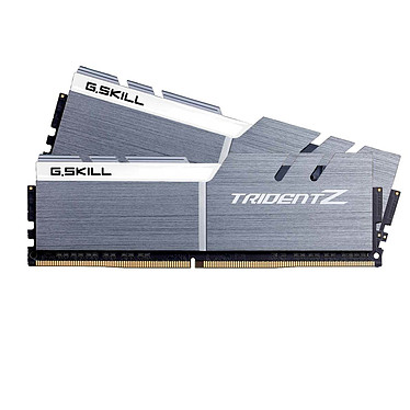 G.Skill Trident Z 16 Go (2x 8 Go) DDR4 4133 MHz CL19 Kit Dual Channel 2 barrettes de RAM DDR4 PC4-33064 - F4-4133C19D-16GTZSWC Blanc et argent (garantie 10 ans par G.Skill)
