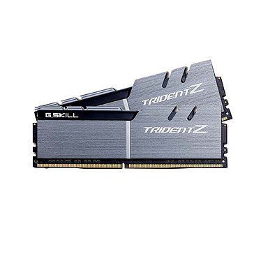 G.Skill Trident Z 16 Go (2x 8 Go) DDR4 3200 MHz CL15 Kit Dual Channel 2 barrettes de RAM DDR4 PC4-25600 - F4-3200C15D-16GTZSK Noir et argent