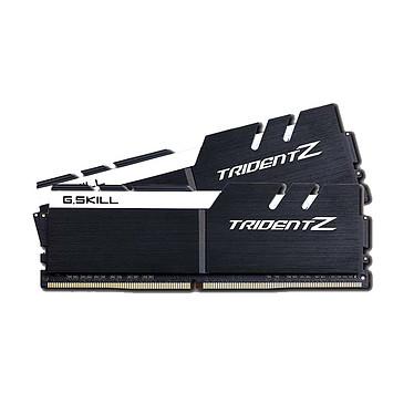 G.Skill Trident Z 32 Go (2x 16 Go) DDR4 3200 MHz CL14 Kit Dual Channel 2 barrettes de RAM DDR4 PC4-25600 - F4-3200C14D-32GTZKW Blanc et noir