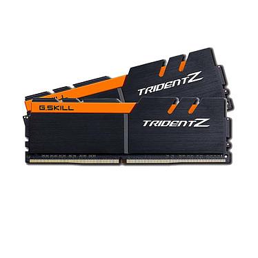 G.Skill Trident Z 16 Go (2x 8 Go) DDR4 3200 MHz CL16  Kit Dual Channel 2 barrettes de RAM DDR4 PC4-25600 - F4-3200C16D-16GTZKO Noir et orange (garantie 10 ans par G.Skill)