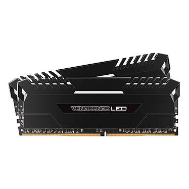 Corsair Vengeance LED Series 16 Go (2x 8 Go) DDR4 3200 MHz CL16 Kit Dual Channel 2 barrettes de RAM DDR4 PC4-25600 - CMU16GX4M2C3200C16 (garantie à vie par Corsair)