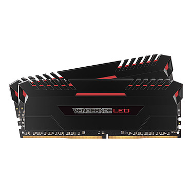 Corsair Vengeance LED Series 32 Go (2x 16 Go) DDR4 3200 MHz CL16  Kit Dual Channel 2 barrettes de RAM DDR4 PC4-25600 - CMU32GX4M2C3200C16R (garantie à vie par Corsair)