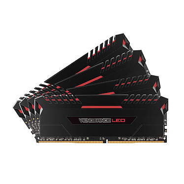 Corsair Vengeance LED Series 32 Go (4x 8 Go) DDR4 3000 MHz CL16 - Rouge