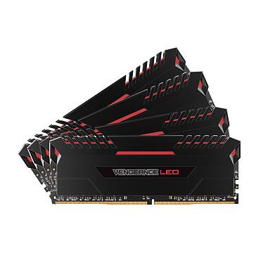 Corsair Vengeance Serie LED 64GB (4x 16GB) DDR4 3000 MHz CL15 Quad Channel Kit 4 tiras de RAM DDR4 PC4-24000 - CMU64GX4M4M4C3000C15R (garantía de por vida de Corsair)