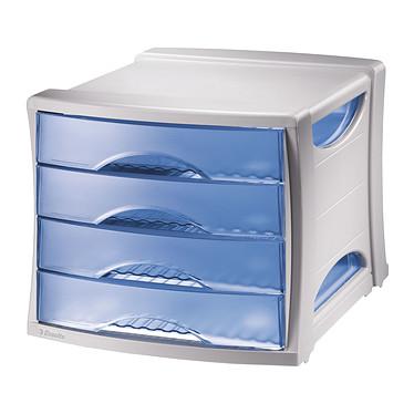 Esselte Bloque de archivo 4 cajones azul Intego Archivador 4 cajones cerrados A4 azul translúcido
