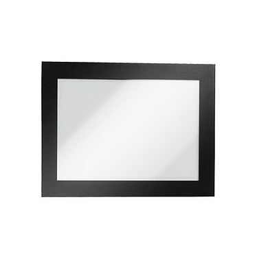 Durable Sachet de 2 cadres Duraframe A5 Noir Sachet de 2 cadres d'affichage adhésifs format A5 bords coloris noir