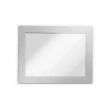 Durable Sachet de 2 cadres Duraframe A5 Gris Sachet de 2 cadres d'affichage adhésifs format A85 bords coloris gris
