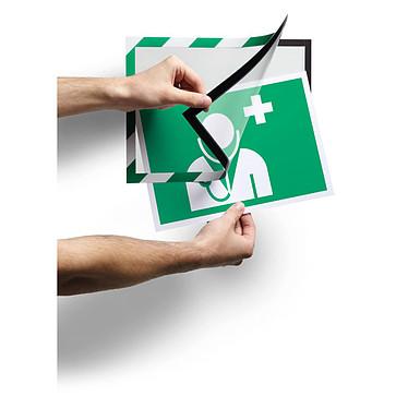 Avis Durable Sachet de 2 cadres Duraframe Security A4 Vert/Blanc