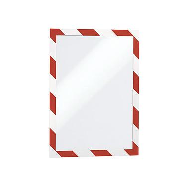 Durable Sachet de 2 cadres Duraframe Security A4 Rouge/Blanc