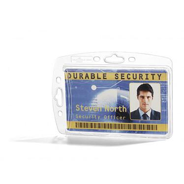 DURABLE boitier rigide pour carte de sécurité x 10 Boîte de 10 boitiers en plastique rigide pour carte de sécurité 5.4 x 8.5 cm transparents