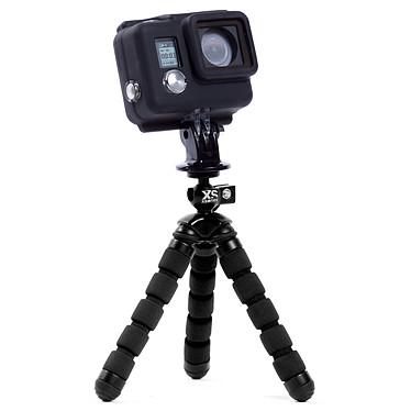 GoPro HERO 4 : Silver Edition + XSories capxule small case noir + Tripod Mount + Mini bendy noir pas cher