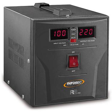 Infosec R2 Pro 1500 Régulateur de tension 1500VA / 900W avec 2 prises