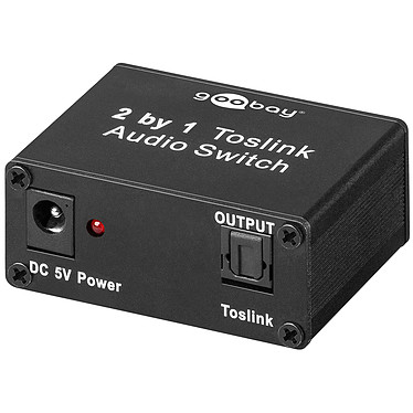 Switch Toslink 2 ports  Switch audio Toslink 2 vers 1