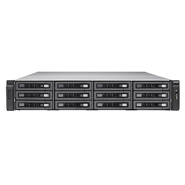 QNAP TVS-EC1280U-SAS-RP-8GE-R2 Serveur NAS professionnel 12 baies SATA 6 Gbps compatible SAS 12 Gbps avec alimentation redondante et 8GB DDR3 ECC RAM