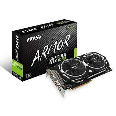 MSI GeForce GTX 1060 ARMOR 6G OC 6144 Mo DVI/HDMI/Tri DisplayPort - PCI Express (NVIDIA GeForce avec CUDA GTX 1060)