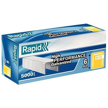 Rapid agrafes 13/6 galvanisées boîte de 5000
