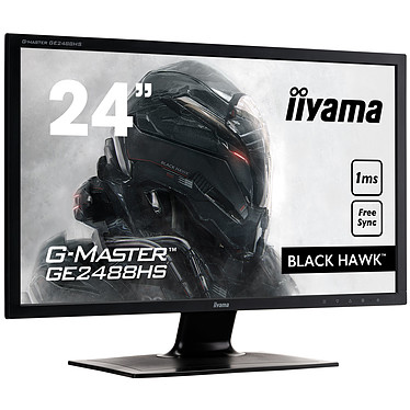 "iiyama 24"" LED - G-MASTER GE2488HS-B2 Black Hawk  1920 x 1080 pixels - 1 ms - Format large 16/9 - FreeSync - HDMI - Noir"
