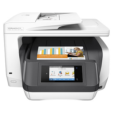 HP Officejet Pro 8730 Imprimante Multifonction jet d'encre couleur 4-en-1 (USB 2.0 / Ethernet / Wi-Fi / AirPrint)