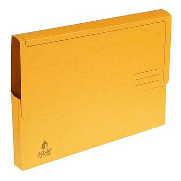 Exacompta Chemises à poche carte lustrée 265g jaune (x5) Lot de 5 chemises à poche en carte lustrée, 265 g, A4