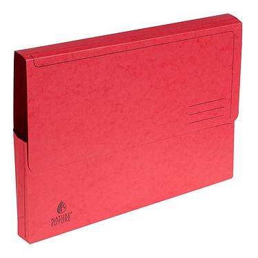 Exacompta Chemises à poche carte lustrée 265g rouge (x5) Lot de 5 chemises à poche en carte lustrée, 265 g, A4