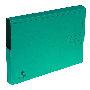 Exacompta Chemises à poche carte lustrée 265g vert (x5) Lot de 5 chemises à poche en carte lustrée, 265 g, A4
