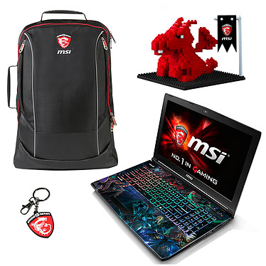 "MSI GE62 6QD-452FR Apache Pro Heroes of the Storm + Pack Dragon Fever Summer OFFERT ! Intel Core i7-6700HQ 8 Go SSD 128 Go + HDD 1 To 15.6"" LED Full HD NVIDIA GeForce GTX 960M Graveur DVD Wi-Fi AC/Bluetooth Webcam Windows 10 Famille 64 bits (garantie constructeur 2 ans)"