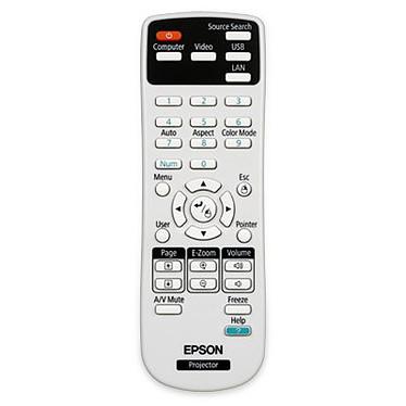 Epson Remote Control 1547200 Télécommande de remplacement pour vidéoprojecteur Epson