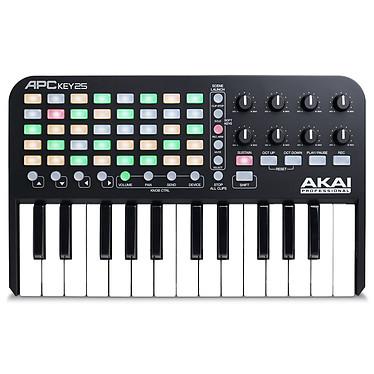 Akai Pro APCKEY25 Contrôleur USB/MIDI 5x8 pads 8 potentiomètres et 25 mini notes pour logiciel Ableton Live